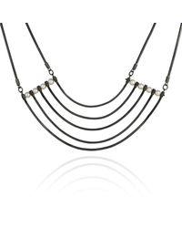 Cara Tonkin - Black Orbit Cosmos Necklace Oxidised Silver - Lyst