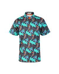 McIndoe Design | Blue Dark Tropical Print Shirt for Men | Lyst