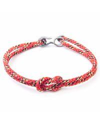 Anchor & Crew - All Red Foyle Rope Bracelet for Men - Lyst