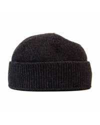 40 Colori - Gray Charcoal Solid Wool Fisherman Beanie for Men - Lyst