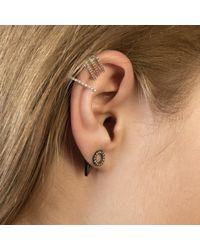 Astrid & Miyu - Gray Circle Ear Jacket In Gunmetal - Lyst