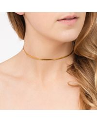 Tada & Toy - Metallic Basic Choker Gold - Lyst