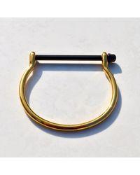 Opes Robur - Metallic Gold & Black Cuff Bracelet - Lyst