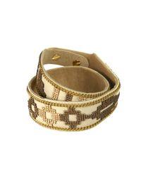 Fiona Paxton - Metallic Still Bronze Colour Double Wrap Cuff - Lyst