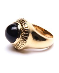 Puck Wanderlust - Metallic Gold Black Onyx Power Ring - Lyst