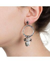 Nadia Minkoff | Multicolor Hamsa Earring Gunmetal | Lyst