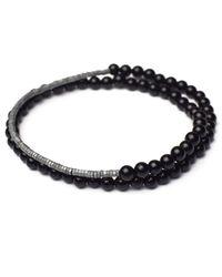 Esenelle - Black Matt Bracelet for Men - Lyst