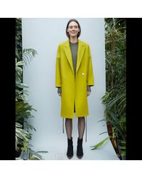 D.Efect - Yellow Gena Signature Coat - Lyst