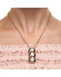 Nadia Minkoff | Metallic Rectangular Triple Stone Pendant Gold | Lyst