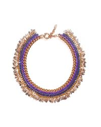 Miss High & Low - Metallic Thracian Sun Gold Necklace - Lyst