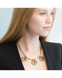 O.YANG - Multicolor Fuschia Crystal Diamonds Necklace - Lyst