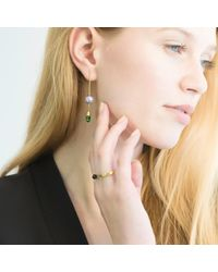 O.YANG | Green Pearl & Emerald Rod Earrings | Lyst