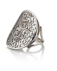 Parisa Jewellery | Talisman Ring White Gold | Lyst