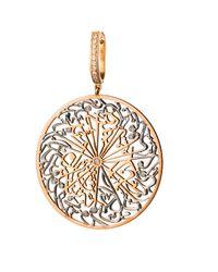 Parisa Jewellery - Metallic Talisman Earrings Diamonds - Lyst