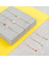 Auree Jewellery - Metallic Bali 9ct Gold March Birthstone Bracelet Blue Topaz - Lyst