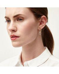 Alison Fern Jewellery | Metallic Lucy Gold & Silver Circle Stud Earrings | Lyst