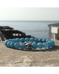 Latelita London | Skull Bracelet Sterling Silver Light Blue Chalcedony | Lyst