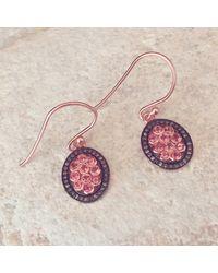 LÁTELITA London - Diamond Oval Pink Tourmaline Earring - Lyst