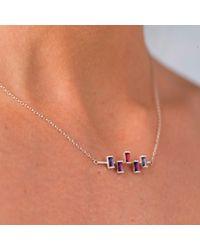 Nancy Rose Jewellery - Metallic Five Stone Ingot Necklace Silver - Lyst