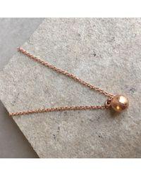 Latelita London - Metallic Cosmic Orb Necklace Rosegold - Lyst