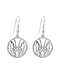 Hoochie Mama - Metallic Thistle Medallion Earrings - Lyst