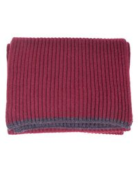 40 Colori | Red Wine Ribbed Wool & Cashmere Scarf for Men | Lyst