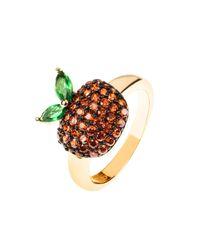 Latelita London - Metallic The Forbidden Apple Ring Red - Lyst