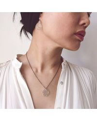 Dream of Songs - Metallic Hexagon Charm Necklace Silver - Lyst