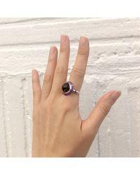 S/H KOH | Metallic Purple Serendibite Silver Ring | Lyst