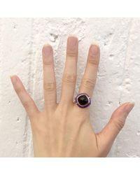 S/H KOH - Metallic Purple Serendibite Silver Ring - Lyst