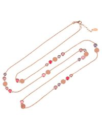 Latelita London - Multicolor Amalfi Mixed Gemstone Rosegold Necklace - Lyst