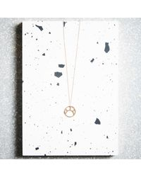 KIND Jewellery - Metallic Rose Gold Soleil Pendant Necklace - Lyst