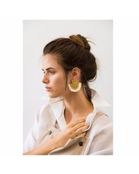 Wafa By Wafa - Multicolor Cream Carissa Earrings - Lyst