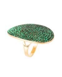 Latelita London | Multicolor St Tropez Ring Gold Emerald Zircon | Lyst
