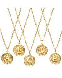 Ottoman Hands | Metallic Alphabet Necklaces | Lyst