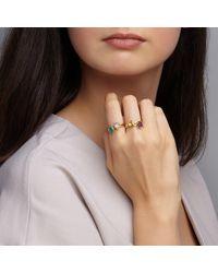 Dione London - Metallic Luciana Labradorite Tear Stacking Ring - Lyst