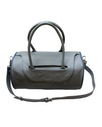 Charlie Noble | Gray The Leather Bag Grey & Blue Piping | Lyst