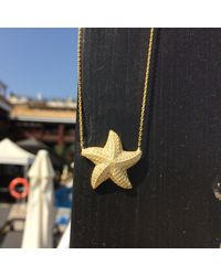Latelita London - Metallic 22ct Gold Plated Sterling Silver Starfish Necklace - Lyst