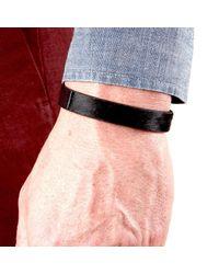 JAM MMXIV - Jet Black Calf-hair Simple Bracelet for Men - Lyst