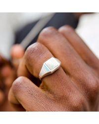 Serge Denimes - Metallic Pearlescent Ring for Men - Lyst