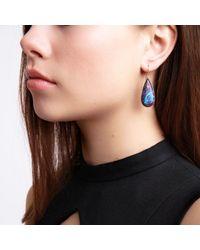 Xanthe Marina | Blue Kingman Purple Turquoise Earrings | Lyst