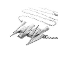 Ona Chan Jewelry - Metallic Nine Dagger Necklace Silver - Lyst