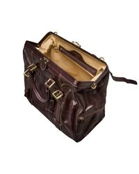 Maxwell Scott Bags - Large Brown Leather Gladstone Bag Gassano L for Men - Lyst