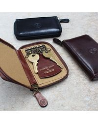 Maxwell Scott Bags - Brown Luxury Chestnut Tan Leather Key Case Vinci for Men - Lyst