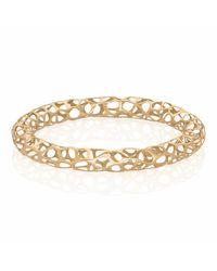 Vitae Ascendere - Metallic Big Lace Gold Bangle - Lyst