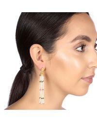 Carousel Jewels - Multicolor Pearl Rose Quartz & Green Onyx Waterfall Earrings - Lyst