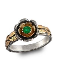 Emma Chapman Jewels - Green Buttercup Gold Emerald Ring - Lyst