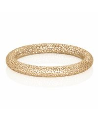 Vitae Ascendere - Metallic Small Lace Gold Bangle - Lyst
