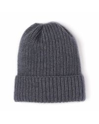 Alma Knitwear - Gray Emile Mohair Hat Dark Grey - Lyst