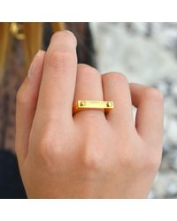 Opes Robur - Metallic Opes D2 Ring Gold - Lyst